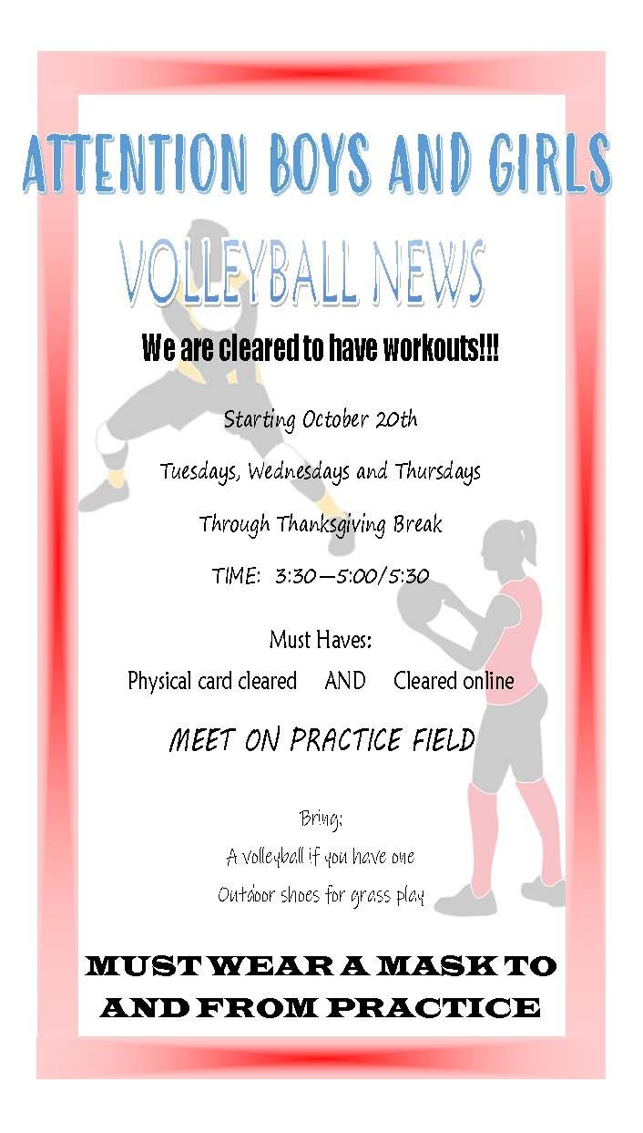 Boys and Girls Volleyball Information