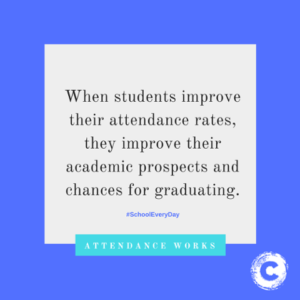 When students improve their attendance rates they improve their academic prospects and chances for graduating.