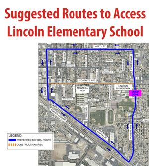 Suggested Route to Access Lincoln